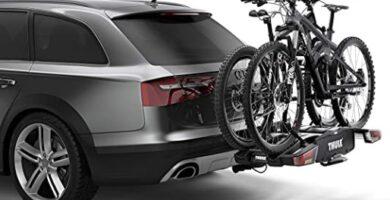 Thule EasyFold XT 2 - Portabicicletas para bola de remolque totalmente plegable, compacto, para todo tipo de bicicletas.