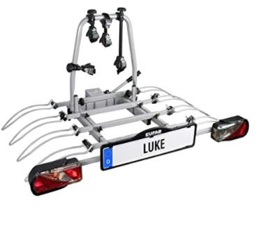 EUFAB - Luke - Portabicicletas de Enganche para 4 Bicicletas