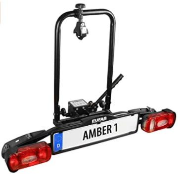 Eufab - Amber 1 - Portabicicletas para Bicicletas eléctricas, portabicicletas para 1 bici