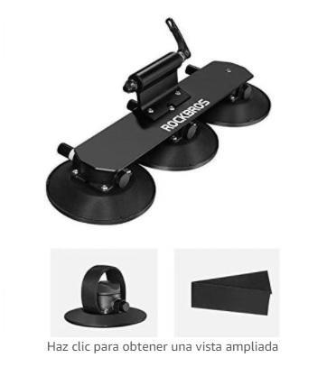ROCKBROS - Baca Portabicicletas de Techo para Bicicleta con Ventosa Instalación Rápida Almacenamiento para 1-3 Bicicletas