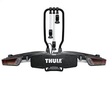 Thule - EasyFold XT 3, Portabicicletas para bola de remolque totalmente plegable, compacto, para todo tipo de bicicletas.
