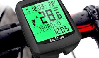 BACKTURE - Cuentakilómetros para Bicicleta, 5 Idiomas Impermeable Computadora de Bicicleta, Velocímetro inalámbrico