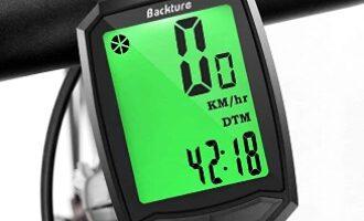 BACKTURE - Cuentakilómetros para Bicicleta, Velocímetro inalámbrico para Bicicleta con Pantalla LCD de retroiluminación, Impermeable