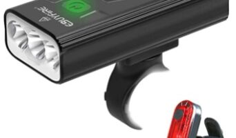 EBUYFIRE - Luz Bicicleta LED Recargable USB, 3000 Lumens 5200 mAh Potente Luces Bicicleta Delantera y Trasera, 3 Modos, IPX5 Impermeable