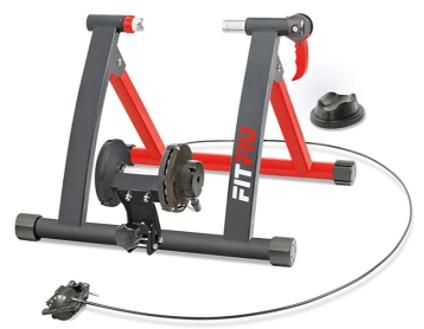 Fitfiu - Rodillo para bicicleta plegable con resistencia magnética, ciclismo indoor compatible con ruedas de 26 a 29 pulgadas