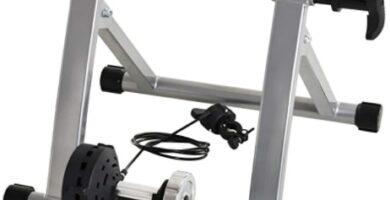 HOMCOM - Rodillo Entrenamiento Bicicleta 5 Niveles de Resistencia por Cable Cicloentrenador