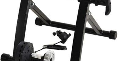 HOMCOM - Rodillo Entrenamiento Bicicleta 5 Niveles de Resistencia por Cable Cicloentrenador Acero