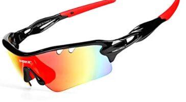INBIKE - Gafas Sol Polarizadas Ciclismo Hombre Mujer con 5 Lentes Intercambiables UV400 Y Montura De TR-90
