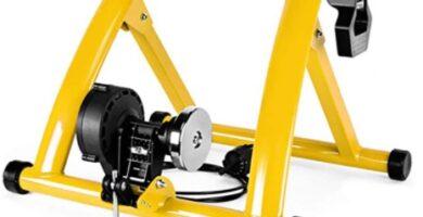 Klevsoure - Entrenador de bicicleta de ejercicio interior Entrenamiento en el hogar Resistencia magnética de 6 velocidades