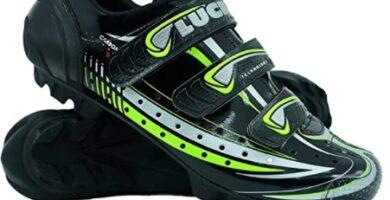 LUCK - Zapatilla de Ciclismo Master, con Suela de Carbono y Triple Tira de Velcro para una sujeción