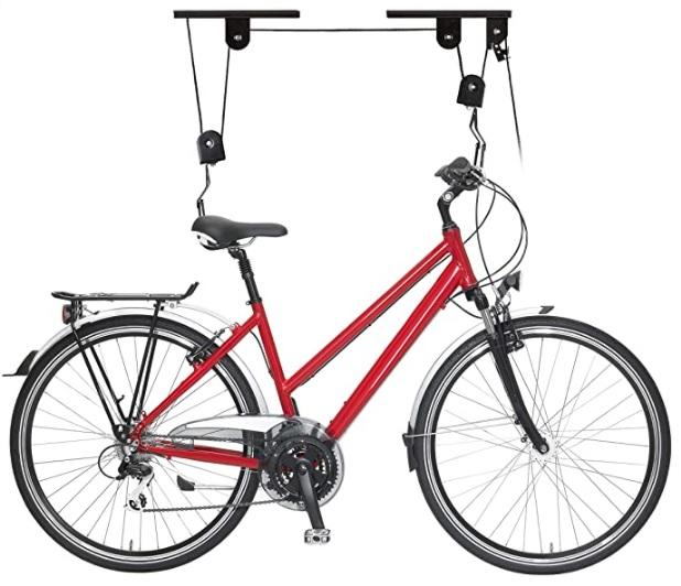 Relaxdays - Soporte Bicicleta Suspensión, Adultos Unisex, Negro, 8 x 100 x 9 cm