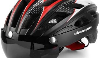 Shinmax - Casco Bicicleta con luz, Certificación CE,con Visera Magnética Seguridad Ajustable