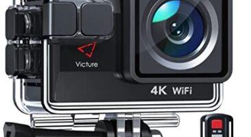 Victure - 4K, 50FPS Cámara Deportiva Wi-Fi 4K Ultra HD 20MP con Control Remoto y Pantalla Táctil, Action Camera Acuatica de 40M