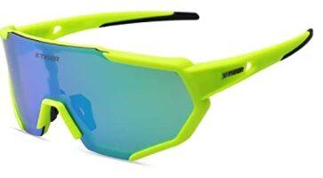 X-TIGER - Gafas Ciclismo CE Certificación Polarizadas con 3 Lentes Intercambiables UV 400 Gafas, corriendo,Moto MTB Bicicleta Montaña