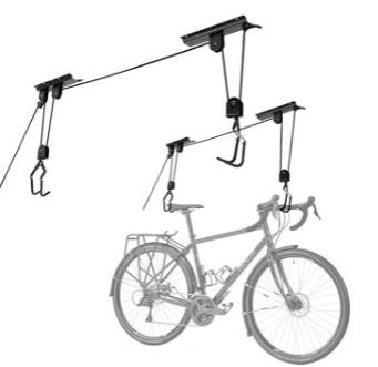 Cartman - Elevador de Bicicletas montado en el Techo para Uso General de Garaje