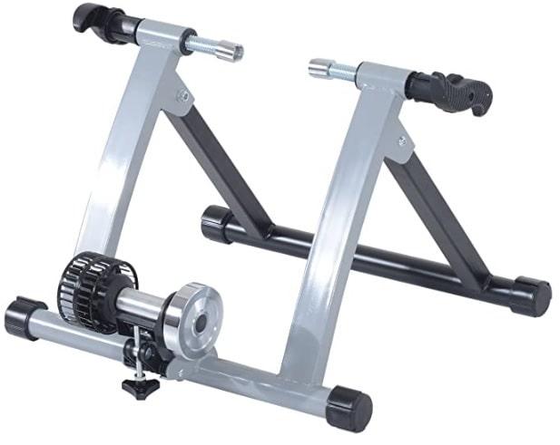 HOMCOM - Rodillo Entrenamiento Bicicleta Acero Cicloentrenador Bici Interior Ciclismo