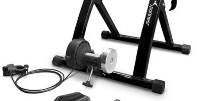 Sportneer - Acero Rueda De Bicicleta Ejercicio Entrenamiento con Bicicleta Soporte magnético con reducción de Ruido