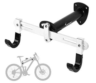 Sportneer - Soporte de pared para bicicleta. Para bicicleta de carretera, bicicleta de montaña, BMX, Ángulo y longitud ajustable