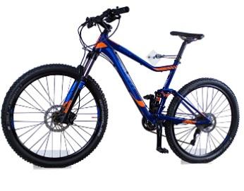 Trelixx - Soporte de Pared para Bicicleta acrílico Transparente (Acabado láser) para Bicicleta de montaña de Carreras