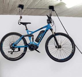 fischer - Soporte para bicicleta, Negro, 57 kg